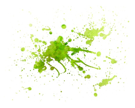 abstract green Painting splash of water color with texture photo