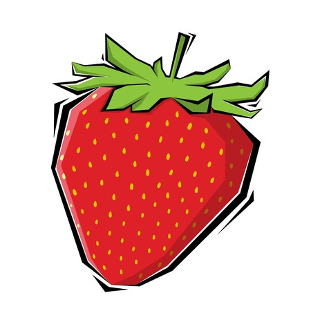 jams: strawberries illustration painting