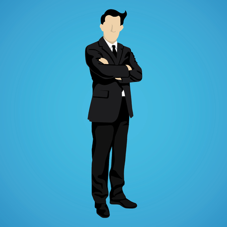 successful businessman: illustration of leader successful businessman Illustration