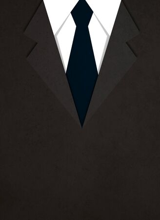official wear: illustration of business suit with a tie background