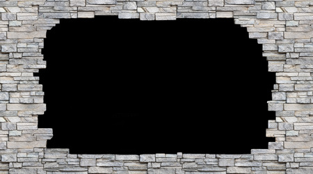 black hole: black hole in the stone wall  isolated  background