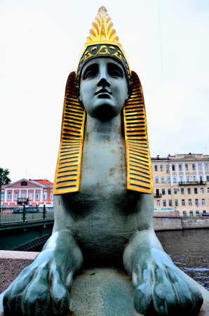 Statue of the Sphinx in st.petersburg. photo