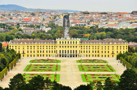Landscape view of Schonbrunn Palace Vienna, Austria photo