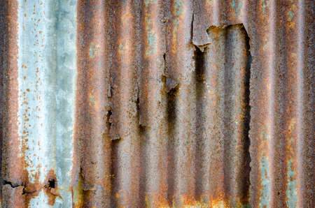 corrugated steel: Rusted galvanized iron plate