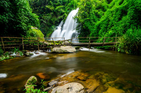 Pha Dok Xu waterfall at Doi Inthanon National park in Chiang Mai Thailand photo