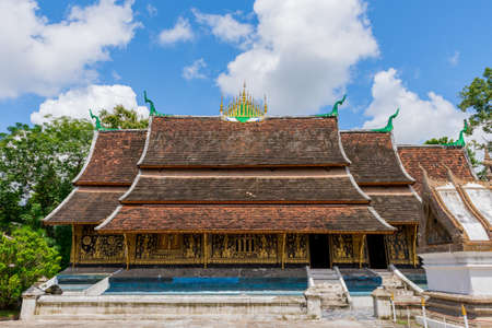 southeast asia: Old Buddhist Temple of Wat Xieng Thong in Luang Prabang, Laos, Southeast Asia