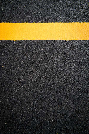 yellow line on the new road photo