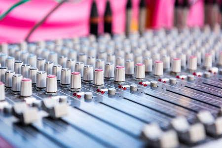 オーディオのコントロール パネル。 写真素材