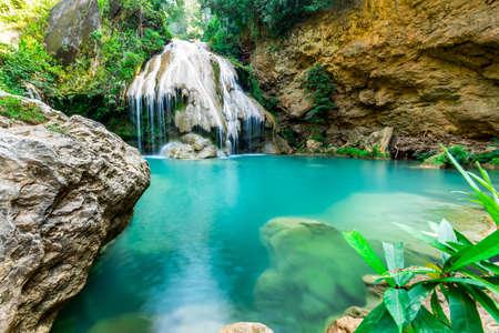 woodland scenery: wonderful waterfall, Koe Luang Waterfall in Lamphun, Thailand