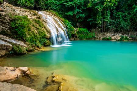 wonderful waterfall, Koe Luang Waterfall in Lamphun, Thailand photo