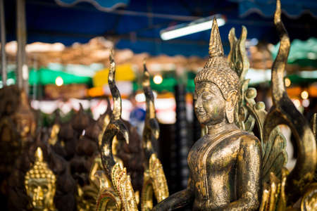 lord buddha: Traditional Thai style Lord Buddha wood carving