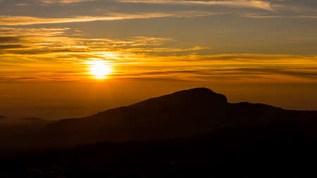 brecon beacons: Sunrise over the Mountains at Doi Inthanon Chiang Mai, Thailand