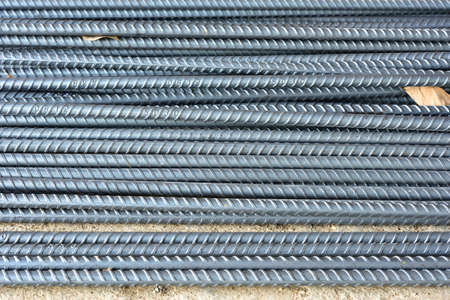 joist: Steel rods or bars used to construction job Stock Photo