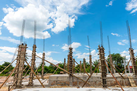cement pole: building cement pillar for home construction