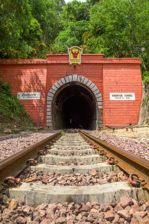 lamphun: Khun Tan Tunnel at Lamphun Province, ( Longest tunnel in Thailand ) Stock Photo