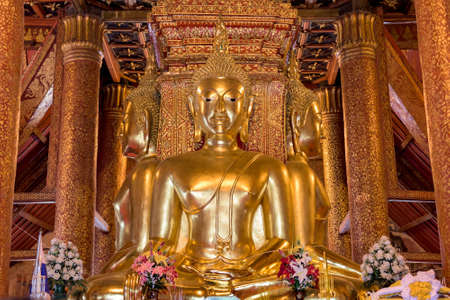 public domain: Buddha Image of Wat Phu Mintr, Nan province, Thailand : In Thailand Buddha image are public domain, no artist name or any copy right appear on the image