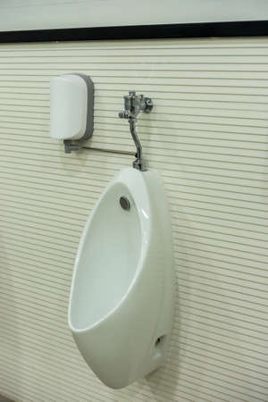 chamber: Men chamber pot or urinal in men toilet Stock Photo
