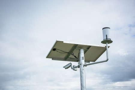 pluviometro: Pluvi�metro, Estaci�n meteorol�gica. Foto de archivo