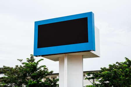 Empty black digital billboard screen for advertising Stock Photo