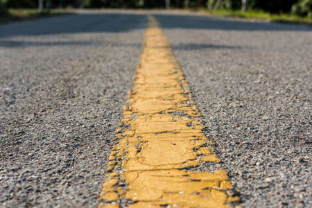 the old road: The yellow line on the old road