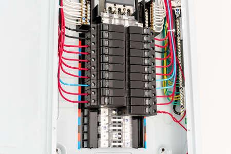 Main circuit box breaker Stock Photo