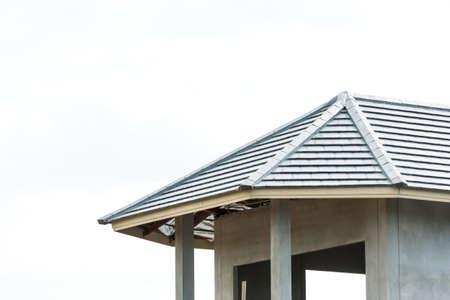Cámara alta con techo de tejas Foto de archivo
