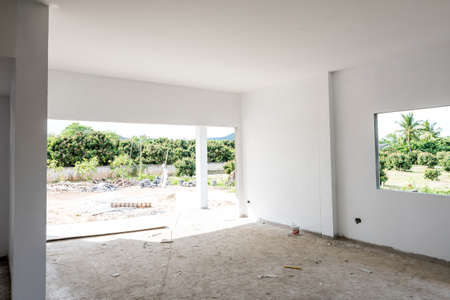 Painting walls in room