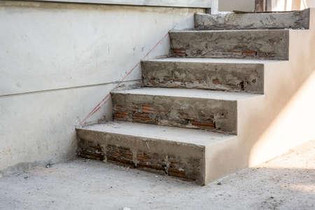concrete staircase under construction