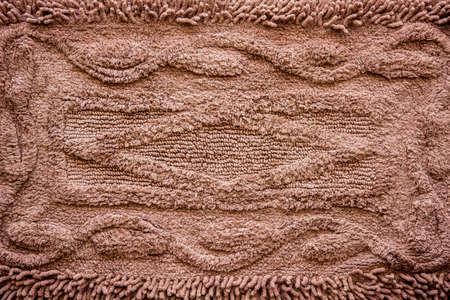 doormat: Brown cleaning doormat or carpet texture Stock Photo