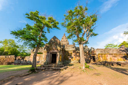 buriram: Phanom Rung historical park is Castle Rock old Architecture about a thousand years ago at Buriram Province,Thailand