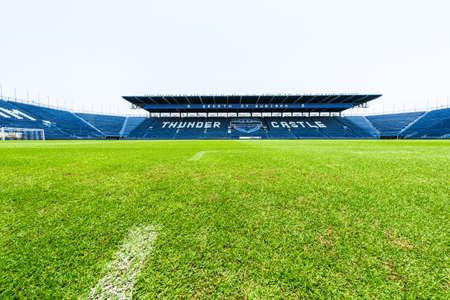 Buriram, Thailand - 11 mei 2016: i-mobile Stadium op 11 mei, 2016.The i-mobile Stadion is het grootste voetbalstadion in Thailand.