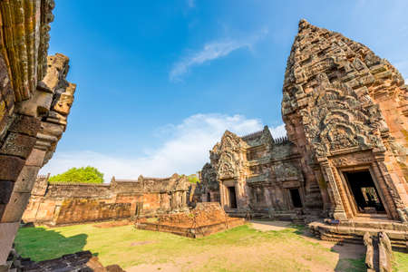 tam: Phanom Rung historical park is Castle Rock old Architecture about a thousand years ago at Buriram Province,Thailand