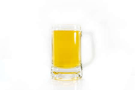 un bottled: glass of beer set isolated on a white background
