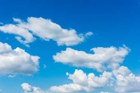Blue sky with cloud, Beautiful cirrus clouds against the blue sky Stock Photo
