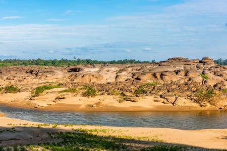 Thailand grand canyon (sam pan bok) at Ubon Ratchathani, Thailand