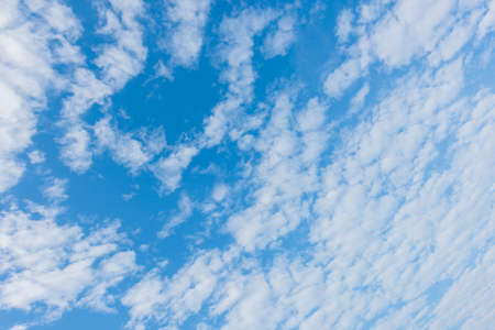 Beautiful cirrus clouds against the blue sky, Pattern of clouds in the blue sky, blue sky with cloud.