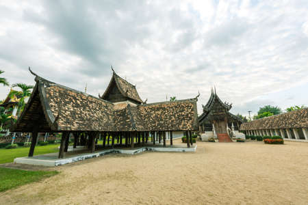 Wat Ton Kain, Old wooden temple in Chiang Mai Thailand, They are public domain or treasure of Buddhism. (vintage style)