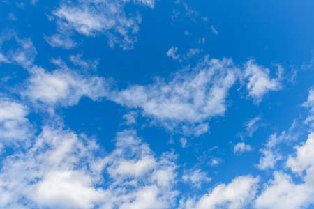 Beautiful cirrus clouds against the blue sky Stock Photo
