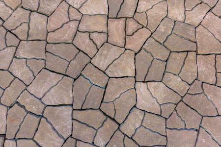 Floor mortar striped natural Stock Photo