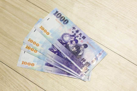Taiwanese currency Stock Photo
