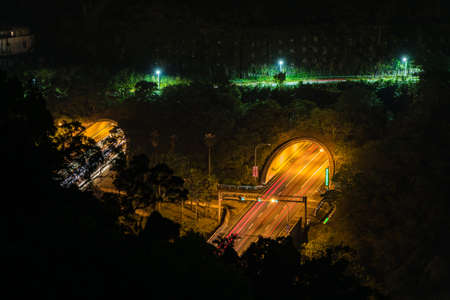 Aerial view of Light trial in the Tunnel
