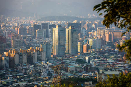 Aerial view of the building in Taipei city, Taiwan