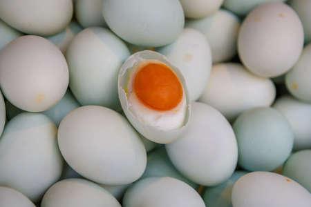 塩漬けのアヒルの卵、卵の背景