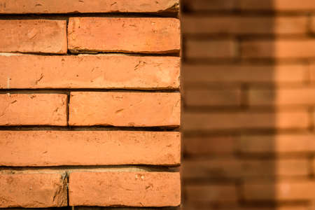 れんが造りの壁テクスチャの背景 写真素材