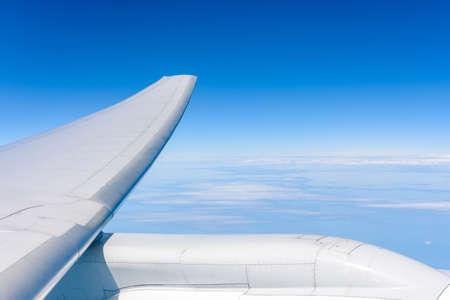 高度飛行中に翼の航空機