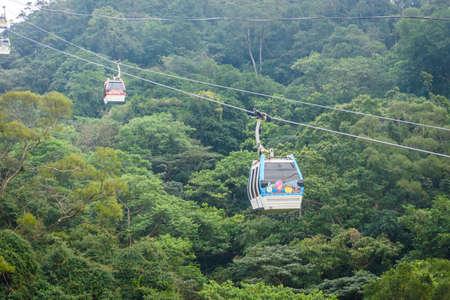 Taipei, Taiwan - April 1, 2017: Maokong Gondola cable car. Maokong Gondola is a gondola lift transportation system in Taipei.