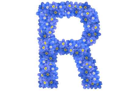 flower alphabet photo