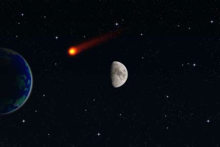 meteorite: meteorite Stock Photo