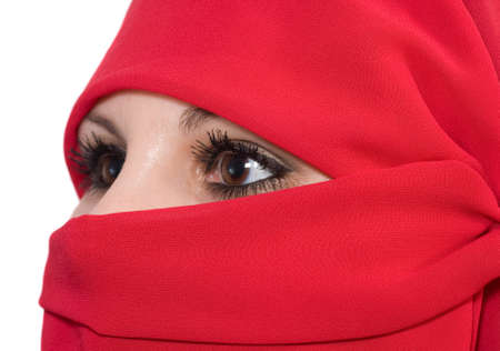 burka: woman with veil