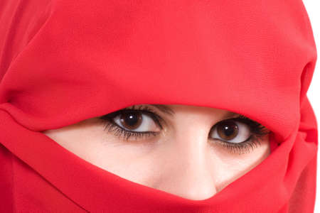 woman with veil photo